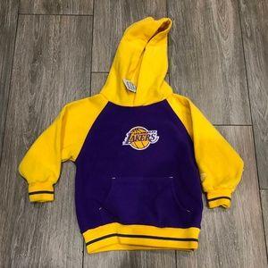 Vintage Reebok Los Angeles Lakers Fleece Hoodie